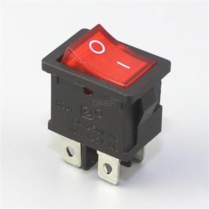 کلید راکر KCD1-4 -201N ON-OFF ROCKER SWITCH