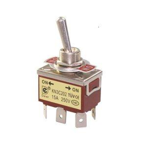 کلید کلنگی استارتی KN3-223C ON-OFF-ON TOGGLE SWITCH