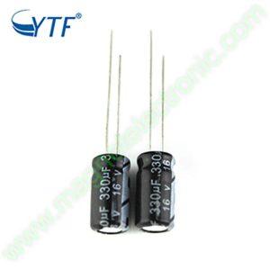 330UF 16V YTF خازن الکترولیت ۱۰۸۰۰۷۰۷۷