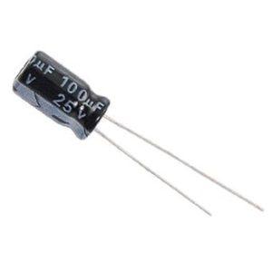 100UF 25V YTF خازن الکترولیت ۱۰۸۰۰۷۰۴۸
