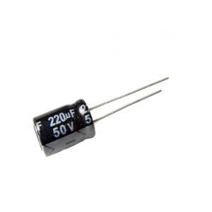 220UF 50V YTF خازن الکترولیت ۱۰۸۰۰۷۰۵۲