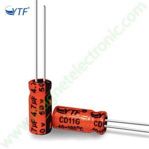 4/7UF 50V YTF خازن الکترولیت ۱۰۸۰۰۷۰۶۳