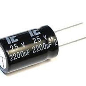 2200UF 25V YTF خازن الکترولیت ۱۰۸۰۰۷۰۶۱