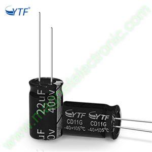 22UF 400V YTF خازن الکترولیت ۱۰۸۰۰۷۰۶۷